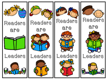 Readers Are Leaders Bookmarks in B/W and Color