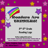 Readers Are THINKERS:  3rd-5th Grade Reading Logs