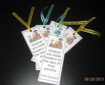 Readers Bookmarks and Book Labels