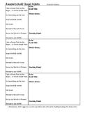 Readers Build Good Habits Observation Notes