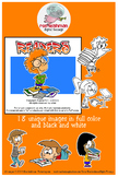 Readers Cartoon Clipart for all ages