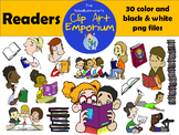 Readers Clip Art - The Schmillustrator's Clip Art Emporium
