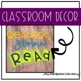 Readers Gonna Read Classroom reading Decorations BB Bullet