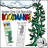 Readers Grow Like Beanstalks and Never Stop! bookmarks