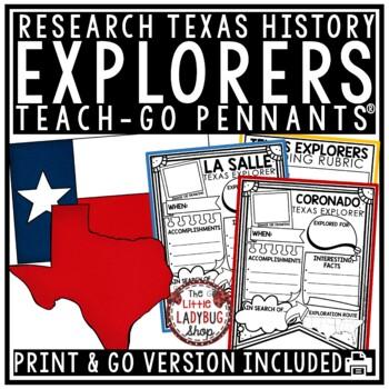 Texas Explorers Research Flip Book La Salle Coronado Explorers Of - Map of us explorers coronado la salle