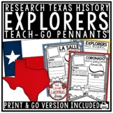 Texas Explorers Research Flip Book -La Salle Coronado Explorers of Texas History