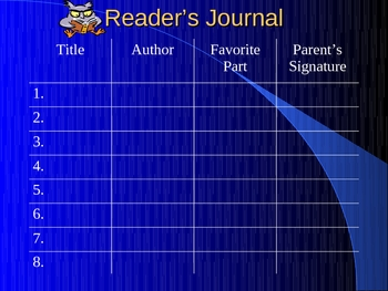 Reader's Journal