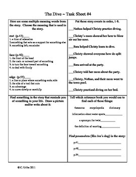 Reader's Library Activity Sheets Bundle ~ 3rd Grade ~ Theme 6