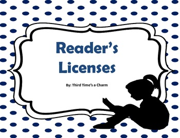 Reader's License: A Student's License to Read!