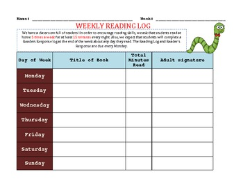 Reader's Log and Response Form Freebie!!