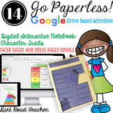 Character Traits Interactive Readers Notebook Google Drive and Paper Bundle