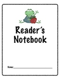 Reader's Notebook Cover-Frogs
