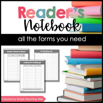 Reader's Notebook Forms - Student Version