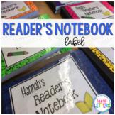 Reader's Notebook Label