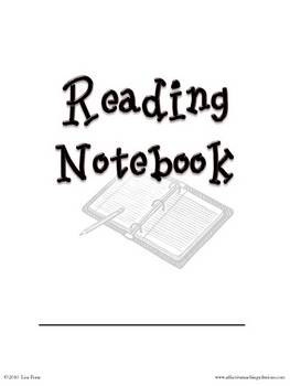 Reader's Notebook Pages for Students