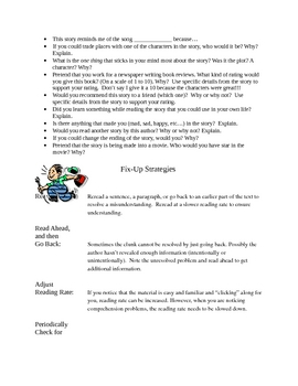 Reader's Notebook Prompts to Use in Your Reading Workshop