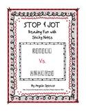 Reader's Notebook: Retell vs. Analyze Reading Fun with Sti
