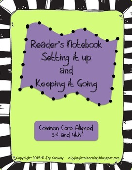 Reader's Notebook Setting it Up and Keeping it Going
