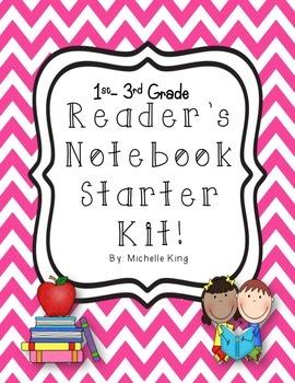 Reader's Notebook Starter Kit! 1st-3rd Grade Common Core J