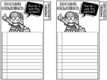 Reader's Notebook Tabs (Editable)