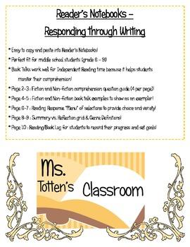 Reader's Notebooks - Responding through Writing