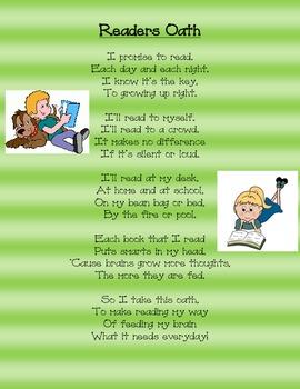 Reader's Oath Poem
