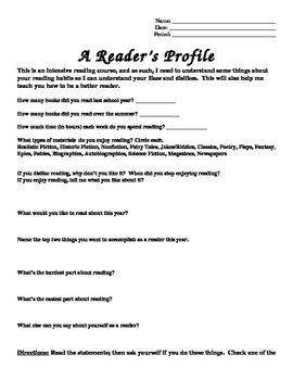 Reader's Profile