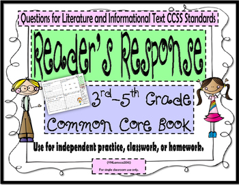 Reader's Response Book - 3rd - 5th Grade Common Core Bundl