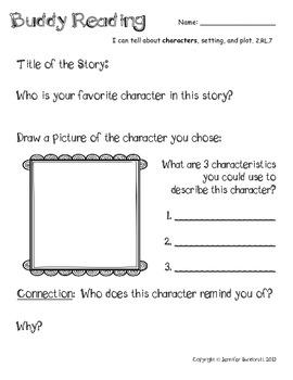 Reader's Response - Characters, Setting, & Plot