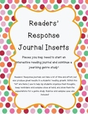 Readers' Response Journal Inserts