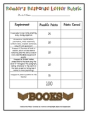 Readers Response Letter Rubric