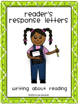 Reader's Response Letters- Differentiated Templates, Rubric, Word Wall