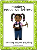 Reader's Response Letters- Differentiated Templates, Rubri