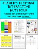 Reader's Response Interactive Notebook (Google Doc Formatt