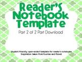 Reader's Response Notebooks Part 2