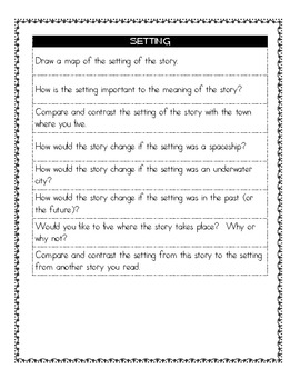 Reader's Response Prompts for Literature