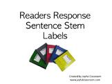Readers Response Sentence Stem Labels