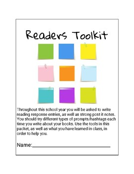 Readers Response/Stop and Jot ToolKit!