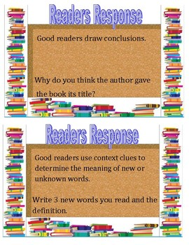 Readers Response Task Cards