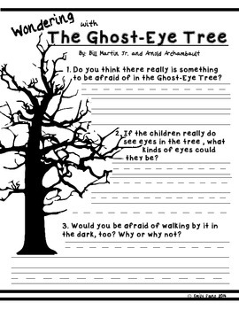 Making Meaning 2nd Grade: The Ghost-Eye Tree with Wondering Response Sheet