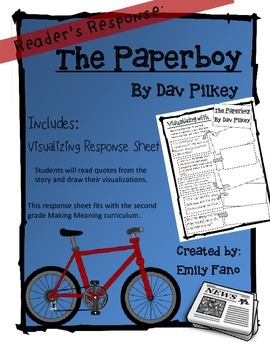 Making Meaning 2nd Grade: The Paperboy with Visualizing Response Sheet