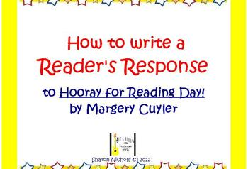 Reader's Response for Hooray for Reading Day!