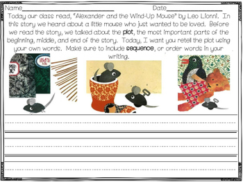 Alexander and the Wind Up Mouse Readers Response