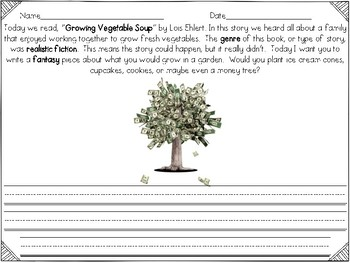 Growing Vegetable Soup Reader's Response