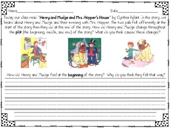 Reader's Response to Henry and Mudge and Mrs. Hopper's House