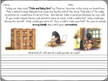 Reader's Response to Mole and Baby Bird