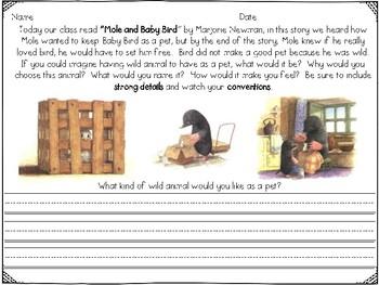 Mole and Baby Bird Reader's Response