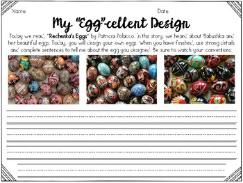 Reader's Response to Rechenka's Eggs With Painted Egg Craft
