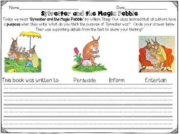 Sylvester and the Magic Pebble Reader's Response