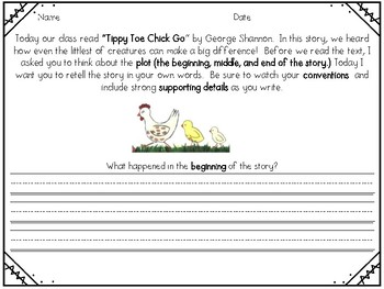 Tippy Toe Chick Go Reader's Response
